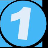 Button mit einer 1