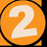 Button mit einer 2