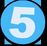 Button mit einer 5