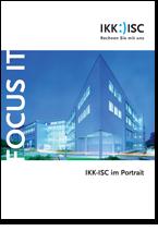Titelseite der Imagebroschüre eines IT-Rechenzentrums