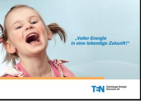 Titelseite der Imagebroschüre eines Energieversorgers