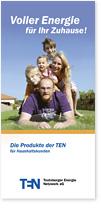 Titelseite eines Flyers für einen Energieversorger (Privathaushalte)