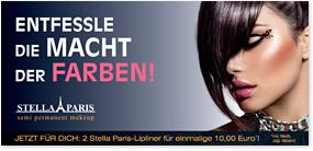 Titelseite eines Flyers für einen Kosmetikvertrieb
