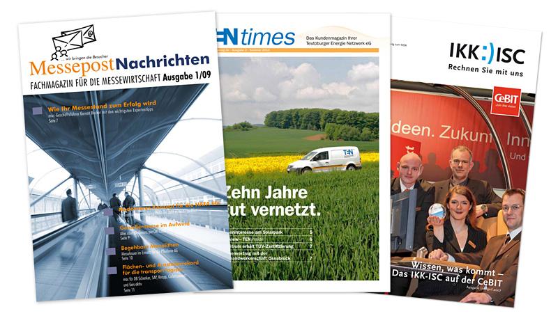 Verschiedene Kundenmagazine