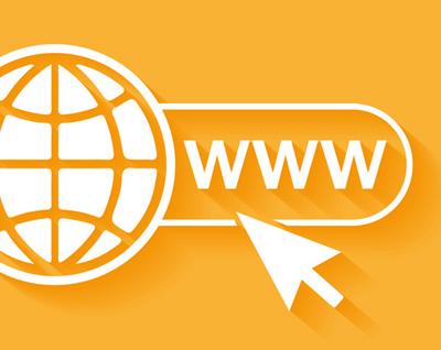 Weltkugel mit Symbol für World Wide Web
