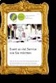 goldfarbener Bilderrahmen mit gerahmter Website auf einem Smartphone - Element des Sliders der Seite Referenzen