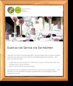 goldfarbener Bilderrahmen mit gerahmter Website auf einem Tablet - Element des Sliders der Seite Referenzen