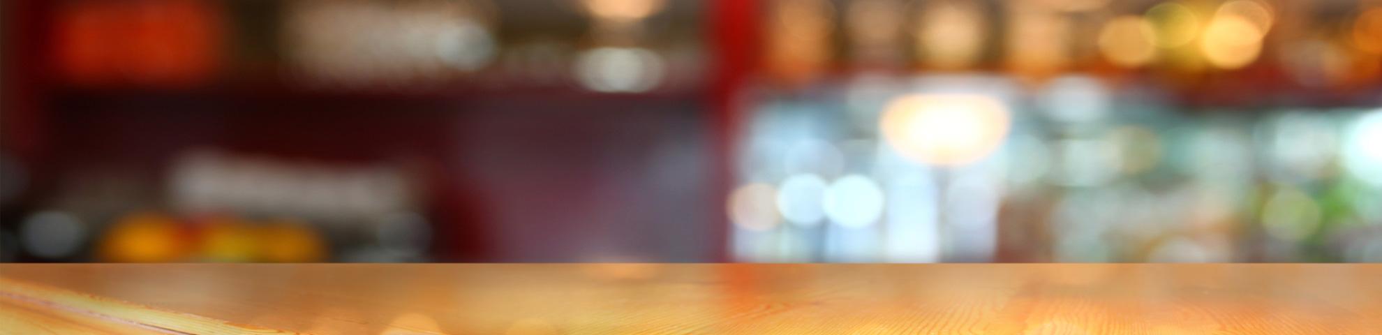 Hintergrundbild des Headers der Seite Referenzen - Ansicht einer Theke