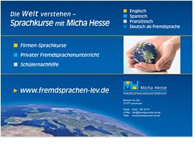 Plakat einer Sprachschule