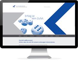 Monitor mit der Website eines Steuerberaters
