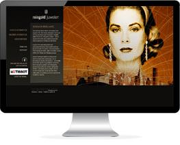 Monitor mit Website eines Juweliers