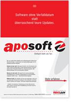 Ansicht eines Werbebriefs für Software