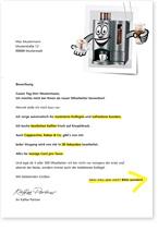 Ansicht eines Werbebrief an Unternehmen