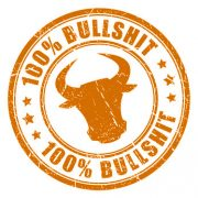 Stempel mit der Aufschrift: 100% Bullshit