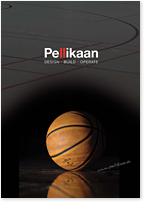 Titelseite einer Broschüre zum Thema Sporthallenbau